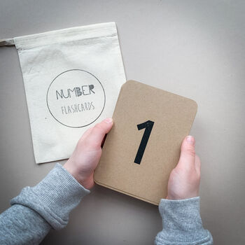 Number Flashcards With Organic Cotton Bag
