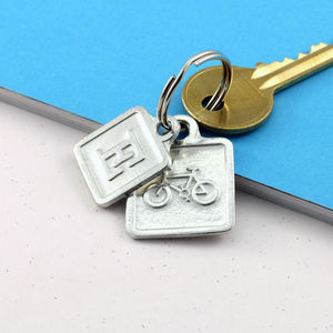 Cyclists Gift Keyring