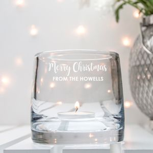 Personalised Luxury L S A Christmas Glass Lantern - lighting