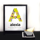 Personalised Initial Name Wall Print