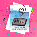 Funny Video Game Boyfriend Card