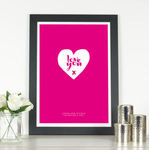 'Love You' Personalised Print