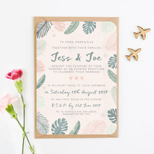 Tropical Pastel Evening Invite - invitations