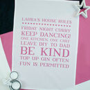 Personalised House Rules Tea Towel