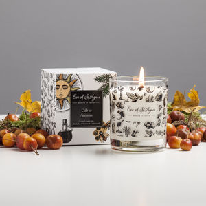 Autumn Scented Candle With Cedarwood And Oakmoss - thanksgiving
