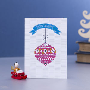 Bauble Christmas Card Pack - winter sale