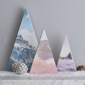 Personalised Mountain Christmas Decoration