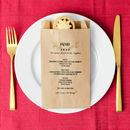 Personalised Set Of 10 Christmas Menu Paper Bags
