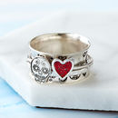 Sugar Skull Sterling Silver Spinner Ring
