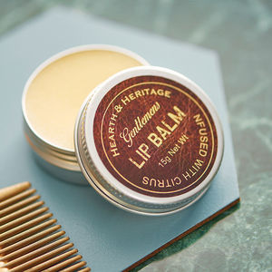 Gentlemens Natural Lip Balm Gift - stocking fillers