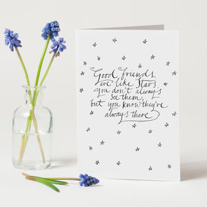 Personalised 'Good Friends' Card
