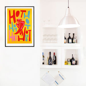 Hot Chillis Kitchen Print