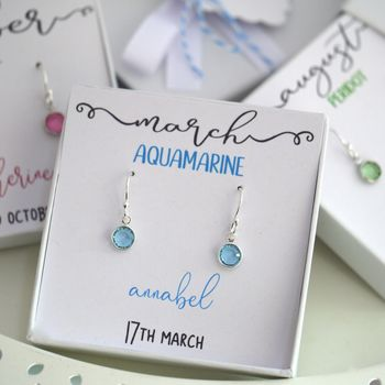 Personalised Birthstone Earrings