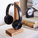 Personalised Solid Oak Headphone Stand