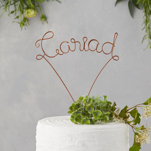 Cariad Wire Cake Topper - table decorations