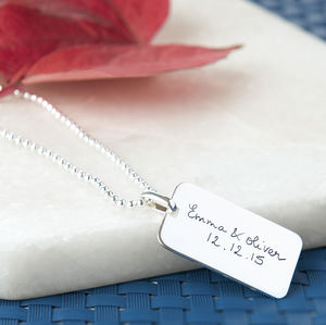 Men's Personalised Dog Tag Chain Necklace