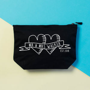 Personalised Tattoo Honeymoon Essentials Bag