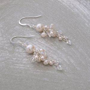 Abigail Pearl Bridal Earrings - earrings