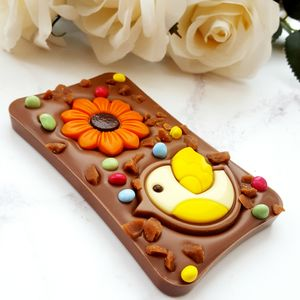 The Spring Time Easter Chocolate Slab Bar