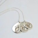 Multi Personalised Fingerprint Pendant