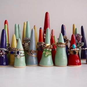 Handmade Rainbow Many Colours Ring Holder Cones - our top new picks