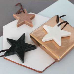 Hanging Marble Star Decoration