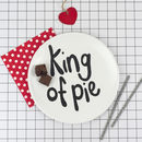 'King Of Pie' Fun Picnic Plate