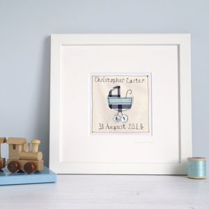 Personalised New Baby Boy Picture - children's pictures & paintings