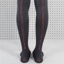 Grey Fragment Printed Tights