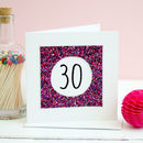30th Glitter Birthday Card