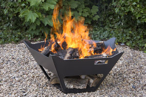 Personalised Steel Crown Firepit - gifts for fathers