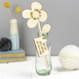 Wooden Flower 50th Birthday Gift - home accessories
