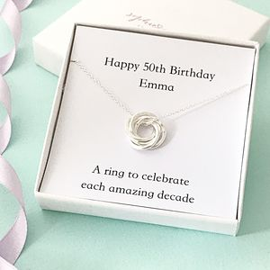 Personalised 50th Birthday Necklace - necklaces & pendants