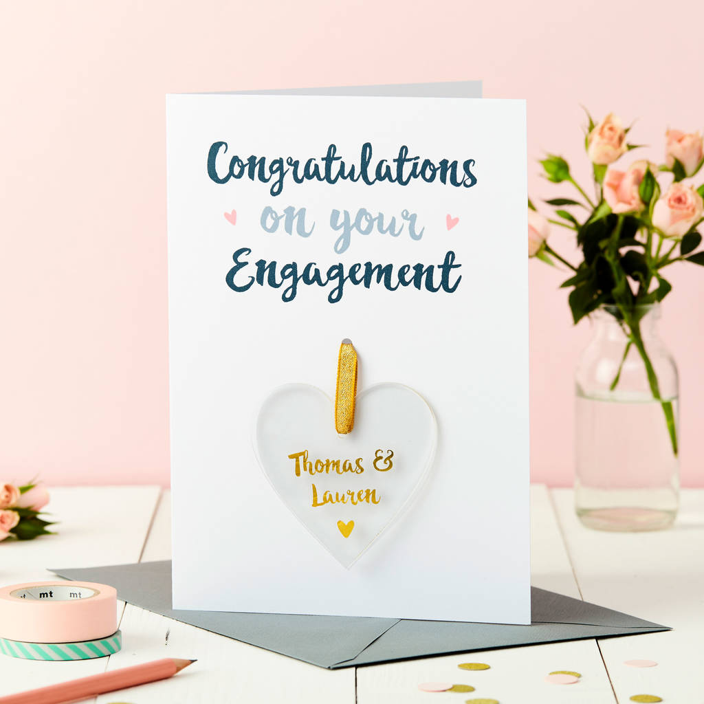 Personalised Engagement Cards Notonthehighstreet
