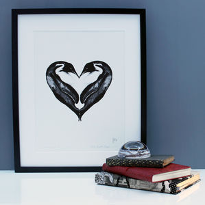 Love Hibernation Penguin Limited Edition Print - posters & prints