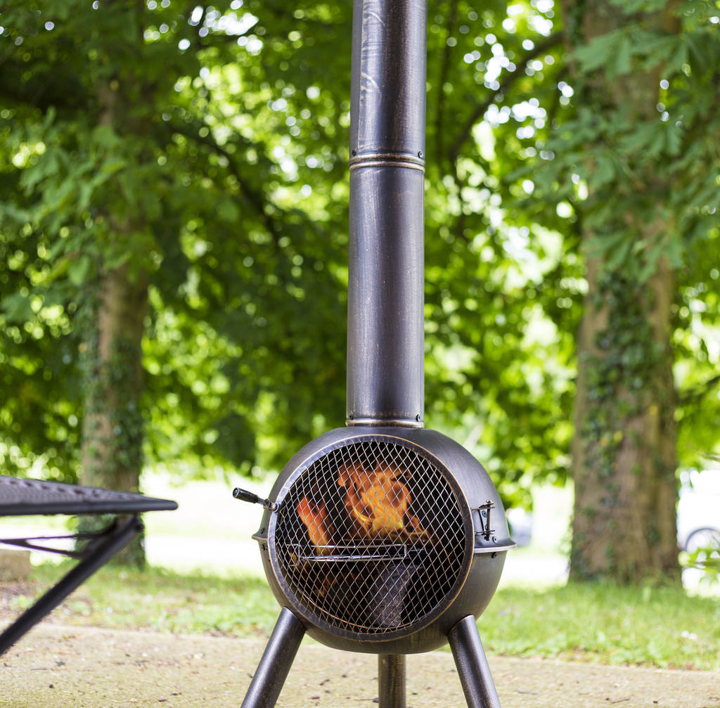 Large Chiminea With Cooking Grill