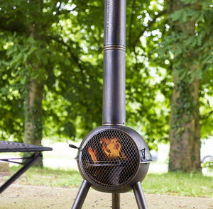 Large Chiminea With Cooking Grill - fire pits & outdoor heating