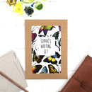 Personalised Butterflies Illustrated Writing Set