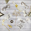 Personalised Hen Party Gold Foil Photo Booth Props