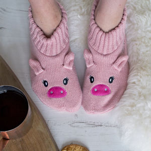 Personalised Women's Glitter Animal Slippers - winter sale