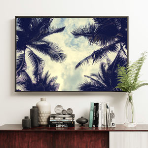 Interior Tropical Decor Palm Trees Fine Art Print - photography & portraits