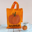 Personalised Halloween Pumpkin Trick Or Treat Bag
