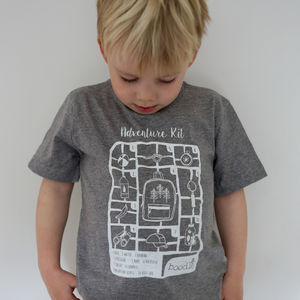 Childrens Organic 'Adventure Kit' T Shirt