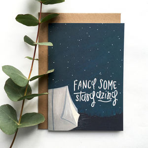 'Fancy Some Stargazing' Love Anniversary Card - anniversary cards