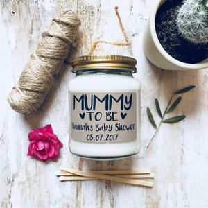 Personalised 'Mummy To Be' Soy Scented Candle - home accessories