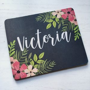 Personalised Floral Mouse Mat