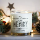 Personalised Christmas Candle