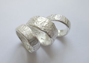 Handmade 5mm Wide Sterling Silver Textured Ring