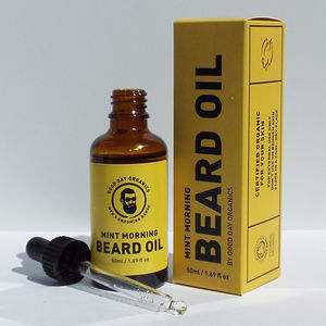 Organic UK Made Mint Scented Beard Oil
