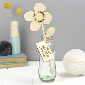Wooden Flowers 60th Birthday Gift - home accessories